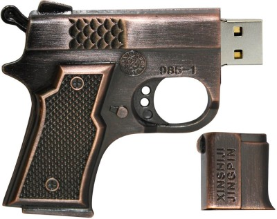 Zeztee Pistol Shape MT1002 16 GB  Pen Drive (Multicolor)
