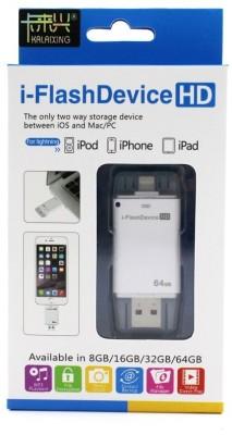IFlash Drive HD 64 GB  Pen Drive (White)