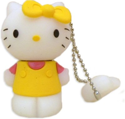 Yes Celebration Kitty Shape 4 GB  Pen Drive (Yellow)