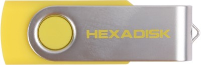 Hexadisk PD01017 16 GB  Pen Drive (Yellow)