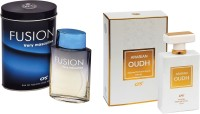 CFS Fusion Very Masculine And Arabian Oudh White Combo Perfume 00ML+100ML Eau De Parfum  -  200 Ml (For Men)