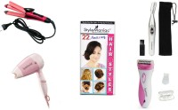 Style Maniac 2 In 1 Hair Straightener Cum Curler , Dryer , Epilator And Eyebrow / Ear / Nose Hair-remover With Hairstyle Booklets Personal Care Appliance Combo (Hair Straightener, Hair Dryer, Epilator, Face Epilator)