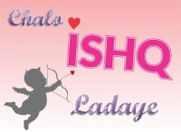 Funcart Chalo Ishq Ladeye Photo Booth Board (Party)