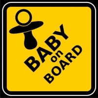 Funcart Baby On Board Photo Party Booth Board Photo Booth Board (Party)