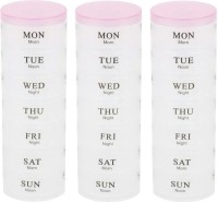 Houzfull 7-day Weekly 3 Section Pill Pill Box With Splitter (Multicolor)