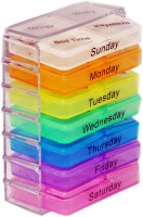 Riddhi Siddhi 7 DAYS, EACH MEAL Pill PILL BOX WITH SPLITTER (multicolor)