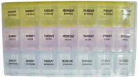 Raghav 7-Day Medicine Reminder Tray Pill Pill Box Tray (Yellow, Pink, Ocean)