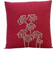 Aapno Rajasthan Floral Chair Cushion (Pink, Brown)