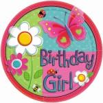 Amscan Garden Girl Plate
