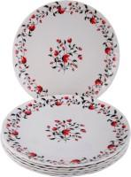 Sony Crazy Dinner Serving Kali Trendy Printed Melamine Plate Set (White, Pack Of 6)