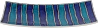 Metlish Elegant Enamelled Striped Solid Aluminium Dish (Blue, Pack Of 1)
