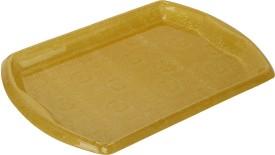 Pratha Elegant Embossed Plastic Tray Set
