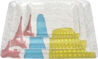 Superware Printed Melamine Tray Set (Grey, Pack Of 3)