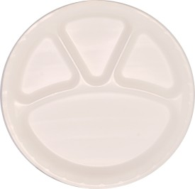 "Biopac 12"" Round 4 Compartment - Superdeluxe Engraved Plastic Plate"