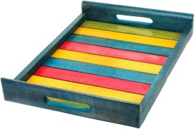 Hashcart Colorful Serving Solid Wood Tray