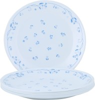 Corelle Essential Series Privincial Medium Printed Glass Plate Set (White, Blue, Pack Of 6)
