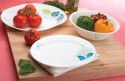 Corelle India Collection Foliage 6 Pcs Small Printed Glass Plate Set - White, Blue, Pack Of 6