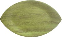 CDA SMALL LEAF PLATTER Solid Melamine Tray (Green, Pack Of 1)