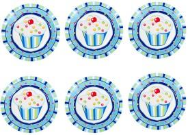 Funcart Sweet Treat Cupcake Printed Paper Plate Set