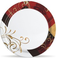 Milton Lissome Dinner Golden Grass Printed Melamine Plate Set (Multicolor, Pack Of 6)