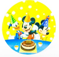 The Souq Birthday Party Mickey Minnie Donald Printed Paper Plate (Multicolor, Pack Of 10)