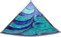 Metlish Blue Triangle Solid Aluminium Dish (Blue, Pack Of 1)