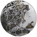 Seletti Twd-RioDeJanerio Solid Porcelain Plate - Black, Pack Of 1
