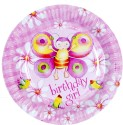 Riethmuller Birthday Girl Paper Plate - Multicolor, Pack Of 8