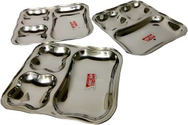Shree Hari SS Solid Stainless Steel Plate Set