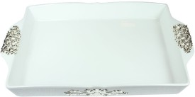 Aurazstore Debossed Silver Plated Tray