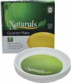 NATURALS Solid Plastic Plate Set