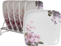 White Gold Oddessey Printed Melamine Plate Set (White, Pack Of 6) - PTDE7RWGF9QRTXRX