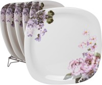 White Gold Oddessey Printed Melamine Plate Set (White, Pack Of 6)
