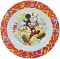 Disney BPA FREE KIDS MELAMINE PLATE Printed Melamine Plate (Multicolor, Pack Of 1)