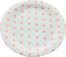Funcart Polka Dot Round Printed Paper Plate Set