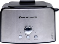 Bajaj Platini Delite 800 W Pop Up Toaster (Silver)