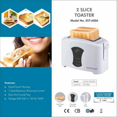 Electrosense EST-6006 2 Slice Pop Up Toaster