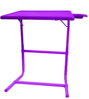 TABLE MATE Purple Platinum Tablemate With Double Foot Rest Adjustable Folding Study Cupholder Kids Reading Breakfast Plastic Portable Laptop Table (Finish Color - Purple) - PLLEGFMCQYUFJKZU