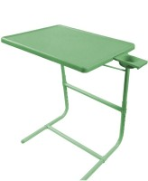 TABLE MATE II Green Platinum Tablemate With Double Foot Rest Adjustable Folding Study Cupholder Kids Reading Breakfast Plastic Portable Laptop Table (Finish Color - Green)