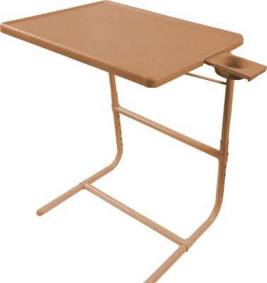 TABLE MATE Beige Platinum Tablemate With Double Foot Rest Adjustable Folding Study Cupholder Kids Reading Breakfast Plastic Portable Laptop Table (Finish Color - Beige)
