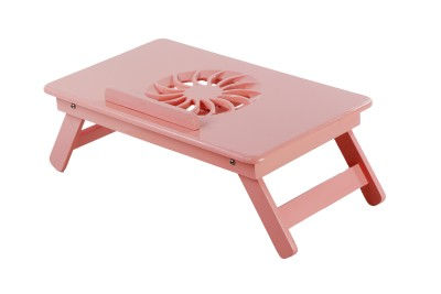 TABLEMATE II Heavy Duty Kids Office Study Reading Adjustable Wooden Pink Bed Mate Engineered Wood Portable Laptop Table (Finish Color - Pink) - PLLEJYUNHVYSGDSR