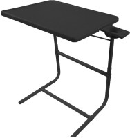 IBS PLATINUM DOUBLE FOOT REST ADJUSTABLE FOLDING KIDS MATE HOME OFFICE READING WRITING STUDY BLACK TABLEMATE WITH CUPHOLDER Plastic Portable Laptop Table (Finish Color - Black)