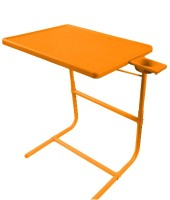 TABLE MATE PLATINUM DOUBLE FOOT REST ADJUSTABLE FOLDING KIDS HOME OFFICE ORANGE TABLEMATE WITH CUPHOLDER Plastic Portable Laptop Table (Finish Color - Orange)