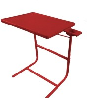 TABLEMATE II PLATINUM DOUBLE FOOT REST ADJUSTABLE FOLDING KIDS HOME OFFICE STUDY RED MATE WITH CUPHOLDER Plastic Portable Laptop Table (Finish Color - Red)