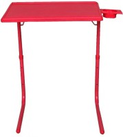 TABLE MATE ADJUSTABLE FOLDING KIDS HOME OFFICE STUDY RED TABLEMATE WITH CUPHOLDER Plastic Portable Laptop Table (Finish Color - Red)