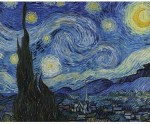 """Engrave Posters Starry Night by Van Gogh 30""""x24"""" Canvas Art"""