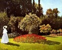 Woman In The Garden Medium By Monet Canvas - Medium