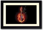 Artifa Posters Colorful Guitar Fine Art Print