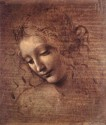 Female Head By Leonardo Da Vinci Paper Print - Small, Rolled