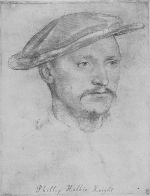 Portrait of a Sir Philip Hoby. c.1532-36 (Medium) Paper Print